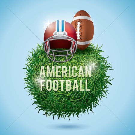 Footballs : American football label