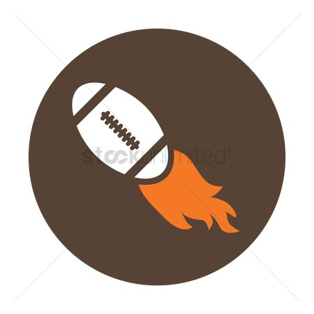 Rugby ball : American football on fire