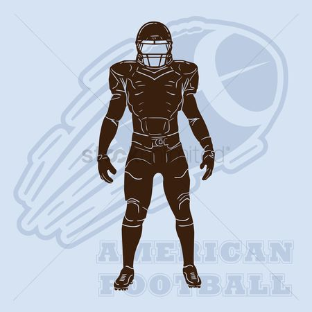 Sports : American football player silhouette