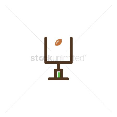 Rugby ball : American football touchdown