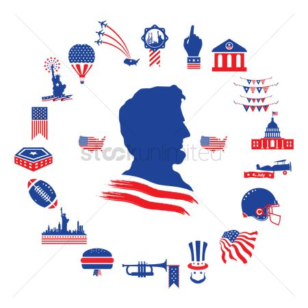 Patriotic : American themed icons