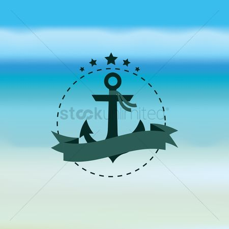 Coast : Anchor with banner