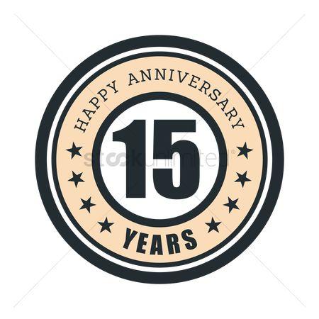 Free 15 Years Anniversary Stock Vectors Stockunlimited