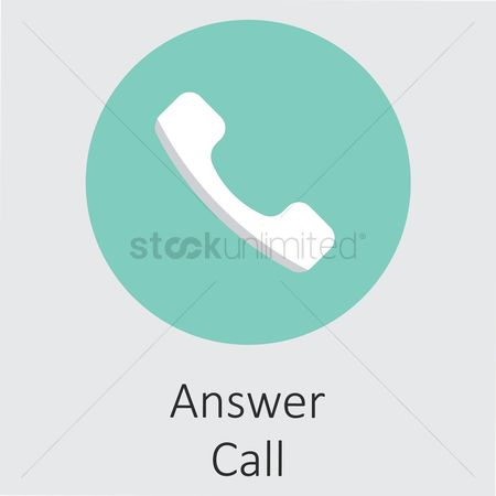 Calling : Answer call icon