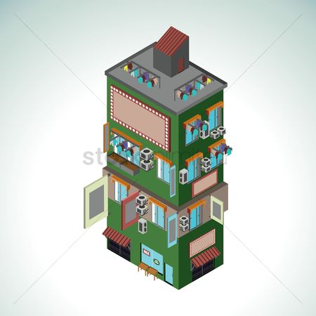 Hours : Apartment building and shopping mall