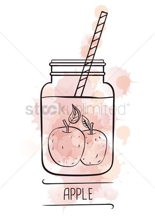 Straw : Apple smoothie