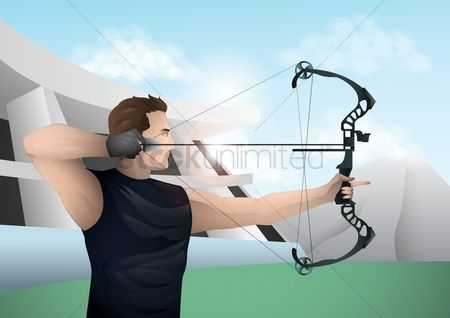 Athletes : Archer in action