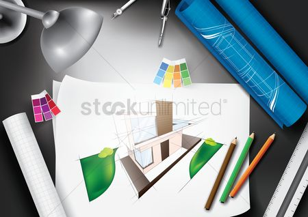 Lighting : Architect workspace desk