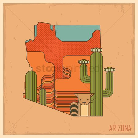 United states : Arizona state map