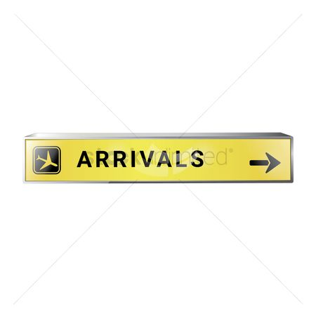 Airway : Arrival signboard