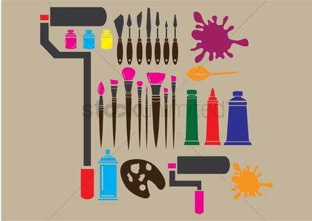 Roller brush : Art tools