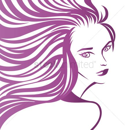 Flow : Artistic design of woman with flowing hair