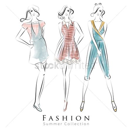 Fashions : Artistic fashion model summer collection