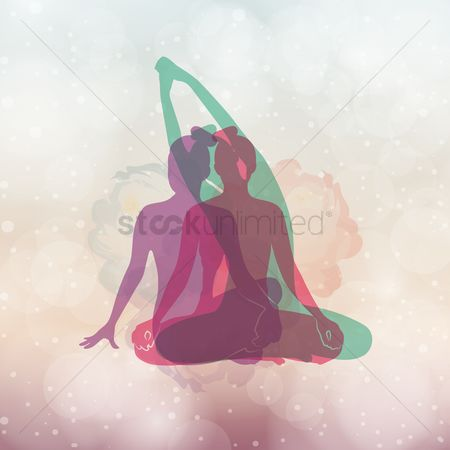 Lifestyle : Artistic yoga pose design