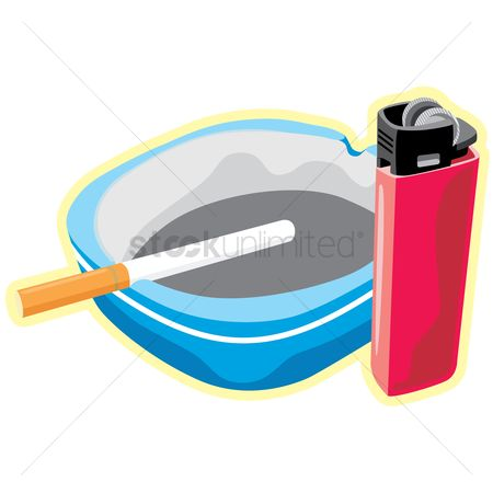 Lighter : Ashtray and lighter