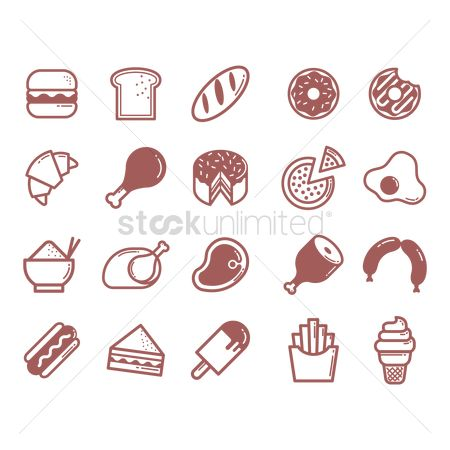 Burgers : Assorted food items