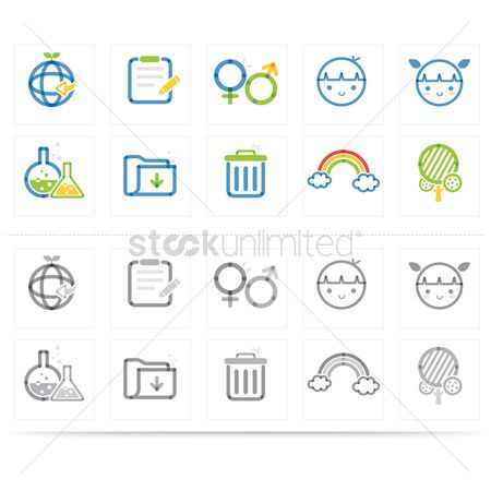 Laboratory : Assorted icons