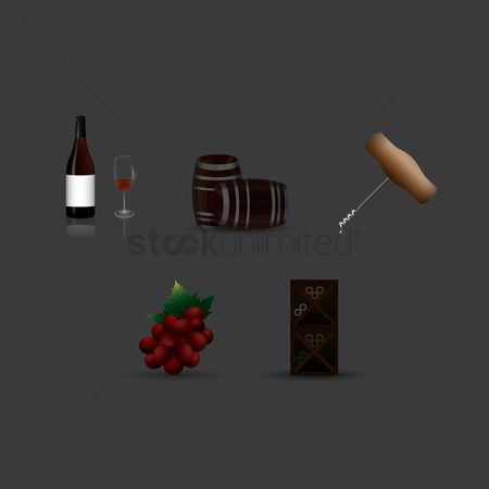 Wine barrel : Assorted wine collection