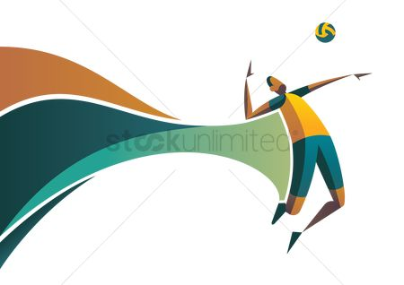 Volleyballs : Athlete with volleyball design