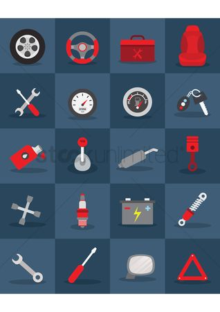 Caution : Automobile icons