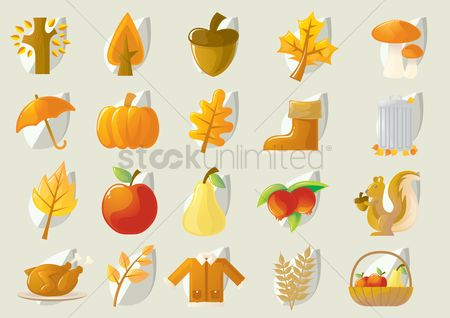 Agriculture : Autumn theme set