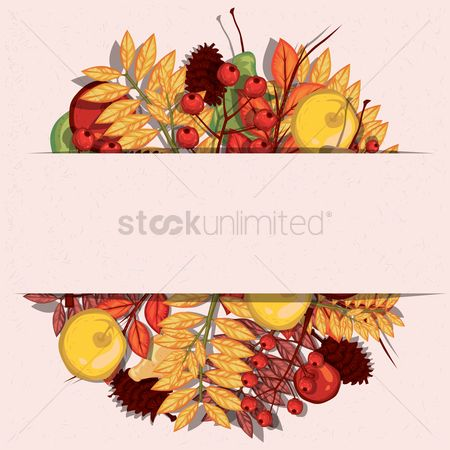 Cones : Autumn themed banner