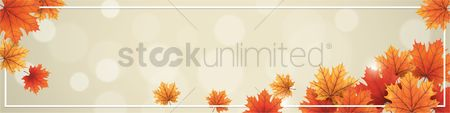 Falling : Autumn themed banner