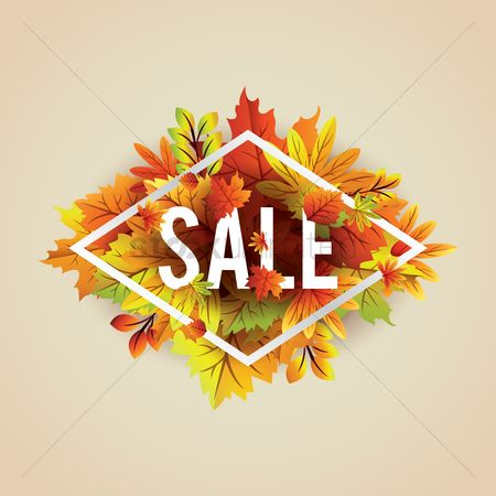 Copyspaces : Autumn themed sale label