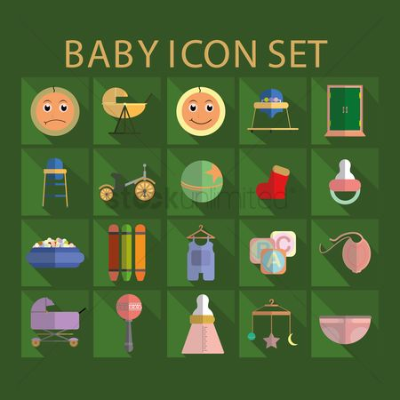 Crayons : Baby icon set