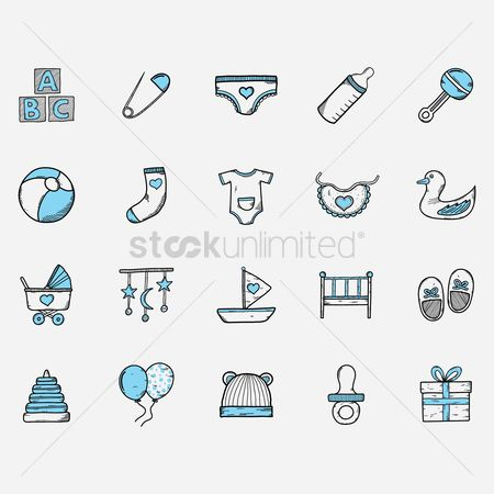 Sock : Baby icon set
