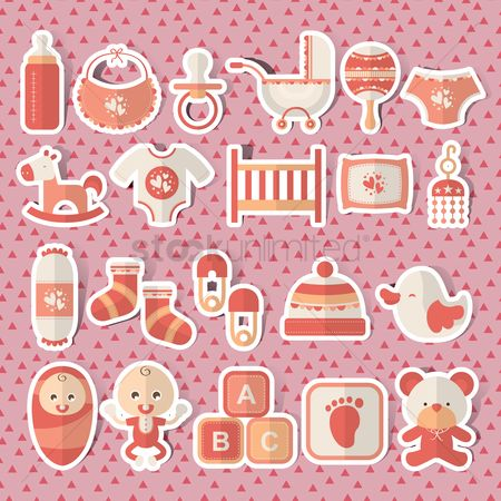 Teddybear : Baby icons set