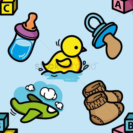 Brick : Baby items background