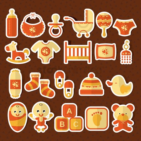 Teddybear : Baby items set