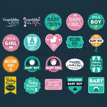 Heart shape : Baby shower card collection