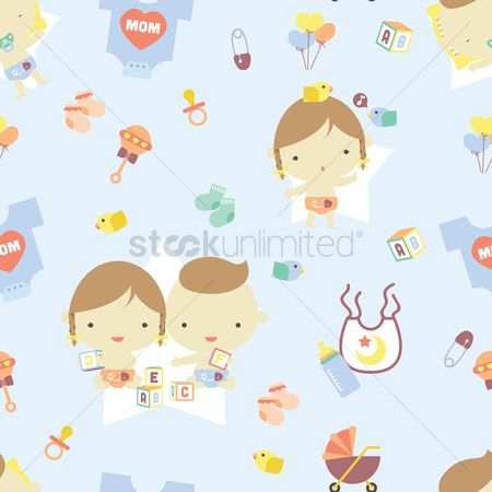Toys : Baby theme background
