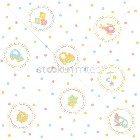 Transport : Baby theme background