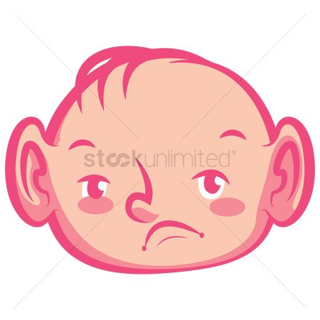 Annoy : Baby with facial expression