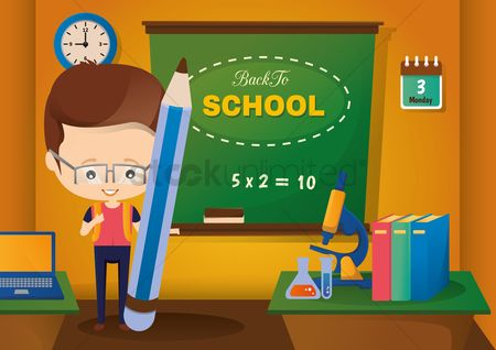 Blackboard : Back to school concept