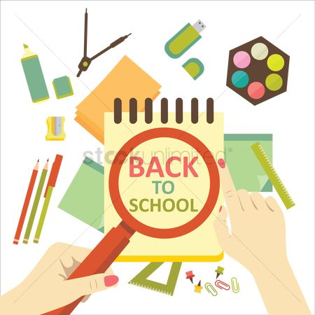 Pendrive : Back to school poster design