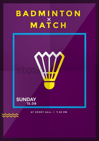 Poster : Badminton match design