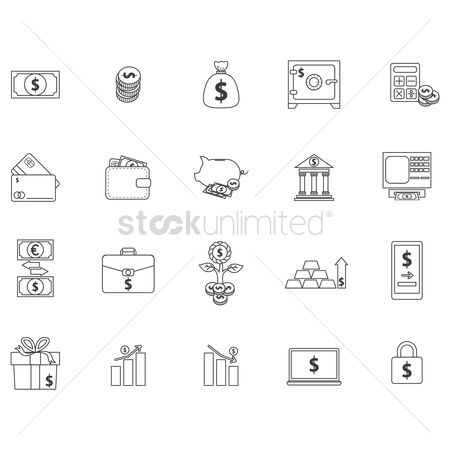 Profits : Banking and money icons