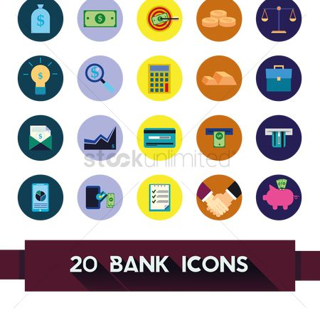 Business deal : Banking icons