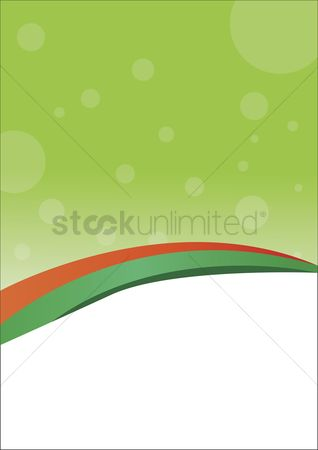 Trendy : Banner with green background