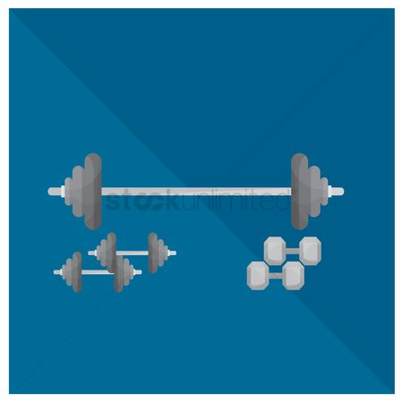 Strength exercise : Barbell and dumbbells