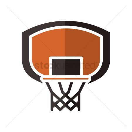 Indoor : Basketball backboard and rim