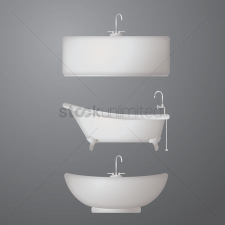 Faucets : Bathtub and washbowl