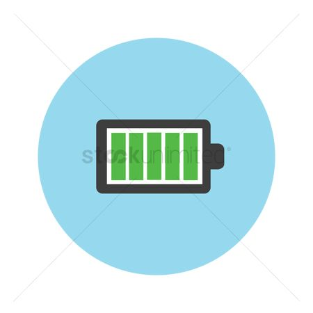 Charging icon : Battery charged