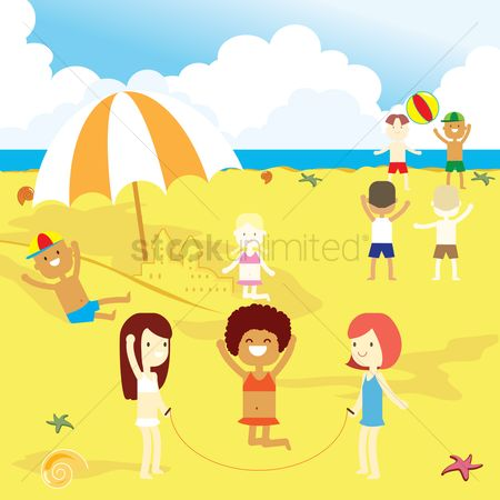 Kids : Beach side