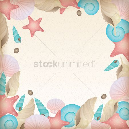 Starfishes : Beach themed background