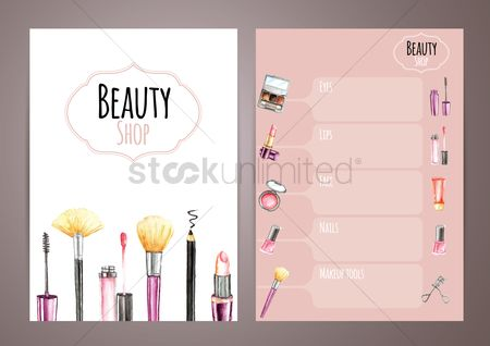 Lifestyle : Beauty shop brochure template